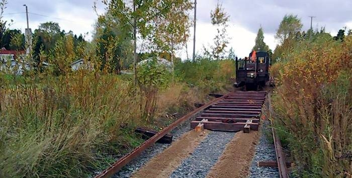Track laying work going on at the new main line. Photo: Jaanus Tori