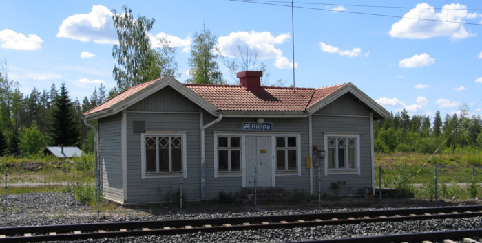 The new Humppila station building was previously Riippa station in Northern Finland.